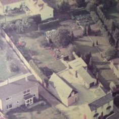 Aerial view of No 49 High St and associated buildings behind 1960s | (Bowden)