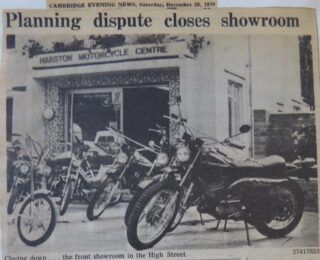 High St motor cycles showroom closes 12.1979 | (Cambridge Collection)