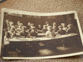 Harston school about 1927 show the galleries the children worked in | (Jan Cammiss)