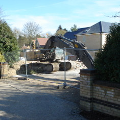 March 2015. Dormer bungalow being demolished. | (Griffin)