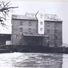 Harston Mill front pool in flood | (Deacon)