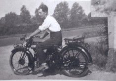 Early motorcyclists in Harston