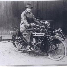 About 1920s- Miss Pask & friend in Douglas combination. | (Joslin)