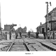 Station staff with main station to the right | TG