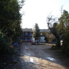 Nos 33 & 35 Being built on the rear of plot of No 37 Church Street Jan 2015 | (Griffin)