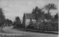 Cottages early 1900s where 68 & 70 Church Street are now.