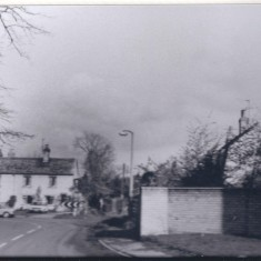 Cottages c 1998 where 68 & 70 Church street are in 2014. 72 Church Street shows behind the trees behind the wall. | (Deacon)