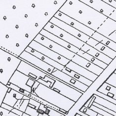 1959 OS map centred on 137 High St showing 1 acre plots