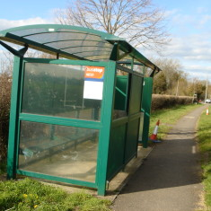 Bus Stop  A10 verge north of Vujon west side 2015  | (Griffin)