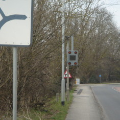 Speed Sensor Royston Rd south of Sargentia entrance A10 west 2016 | (Griffin)