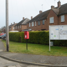 EllR letter box Junction Meadow Way & Queen's Close 2015  | (Griffin)