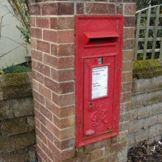 GviR letter box junction Queen's Close & London Rd 2015  | (Griffin)