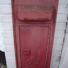 GviR letter box outside Post Office. Now unused & replaced by ER box | (Griffin)