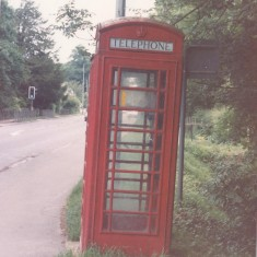 #5 Telephone Box High St by School 1987  | (Deacon)