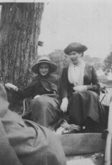 Margaret Badcock (on left) - May 1921