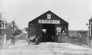 Ron Bass in garage started 1927 | (Folbigg)