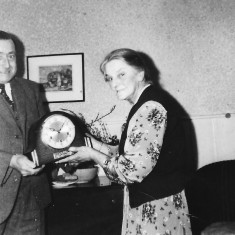 Gladys Ashby retires from Queens head early 1960s   (Folbigg)