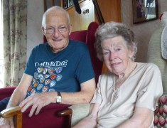 Margaret & Bernard Gambie at home in Queen's Close, Aug 2016