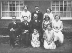 Harold Northrop's family at his wedding.