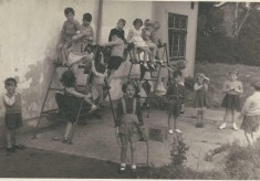 School class in village Hall- spring 1956