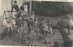 School class in village Hall 1956