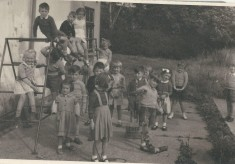 School class in Village Hall -spring 1956