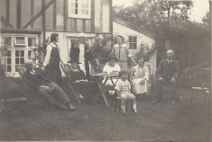 The Cottage, No 1 High St - Tea Party in the Garden with Jude & Badcock families - 1925