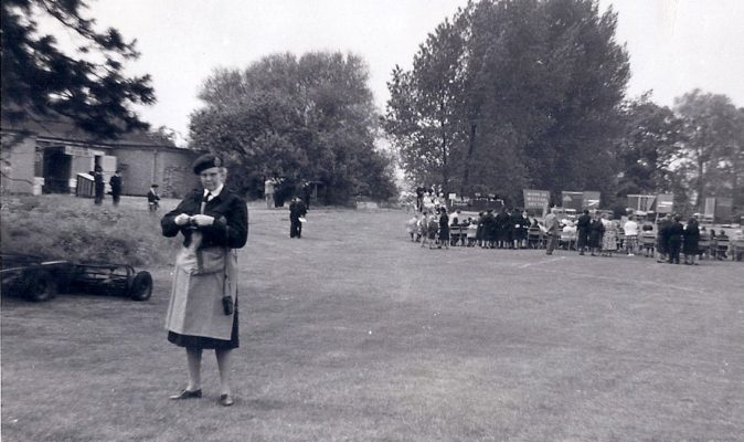 Dr Lindgren early 1960s at mock (cold war) feeding exercise