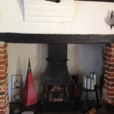 2017: Inglenook fireplace of No 107 High St. | (Chris Girling)