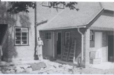 A young Mrs Moore during building of Birnam (now Tiptofts) 1939