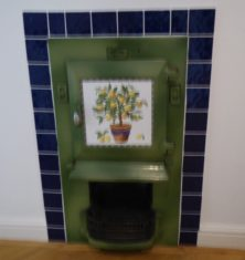 Original fireplace in 'maids' room still in Tiptofts