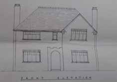 MBE0T.02b Drawing of proposed house Button End for J De Bondt app 28.12.39