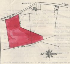 Map showing land bought by De Bondt in 1944