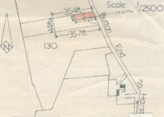 Map shows plot 354ft in depth by 141ft wide