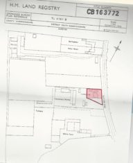 Land registry Map showing Linden Lea plot, Centenary Works and Willow Farm in 2000.