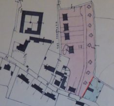 12 Church St; 1958 sale of 4ft frontage (shown by red line) from CRDC to Cator of Pantile Cottage