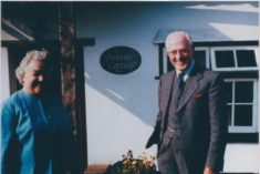 Mr & Mrs Bertie Cator in front of Pantile Cottage poss 1950s