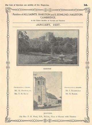 Jan 1937 Parish Church Magazine entry written by Rev Ward | (B Hadfield)