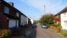 1990s council housing interspersed with 1930s in Manor Close