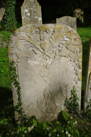 Gravestone of Edmund Dickman, Harston parish churchyard | (Roadley)