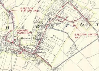 Harston,Hauxton,Haslingfield sewage disposal plan Oct 1961 | (Harston PC)