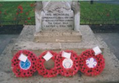 Commemorated on the war memorial