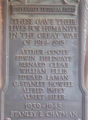 University Tutorial Press memorial, Foxton | (Roadley)