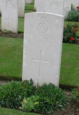Frederick George Northrop grave Warloy | (CWGC)