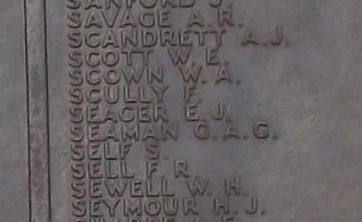 GAC Seaman on Portsmouth Naval Memorial   (CWGC)