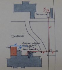 1934 additions (shaded brown) to Old House