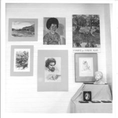 1973 exhibition of local paintings in Village Hall | (VH Archive)