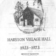 Village Hall golden Jubilee week service programme | (VH Archive)