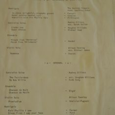 1973 Village Hall concert programme | (Sellen)