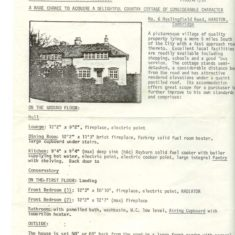 No 6 Haslingfield Road estate agents advert 1977 | (Bates)